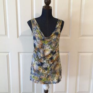 apostrophe womens knit tank top blouse floral NWT